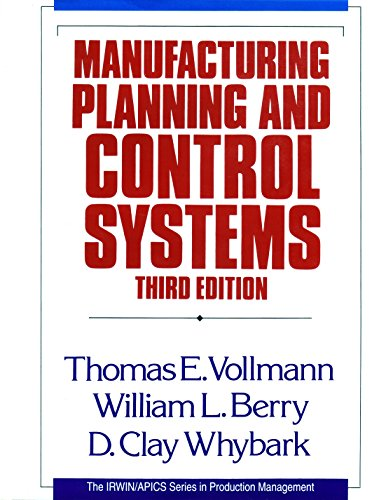9781556236082: Manufacturing Planning and Control Systems (Business One Irwin/APICS Series in Production Management)
