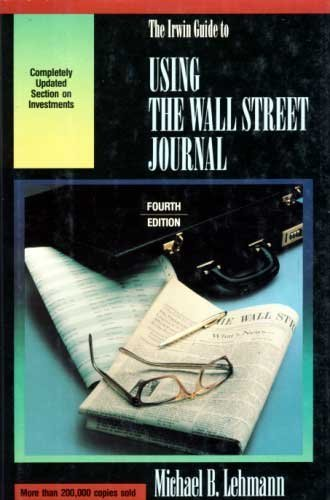 """9781556237003: Irwin Guide to Using the """"Wall Street Journal"""""""