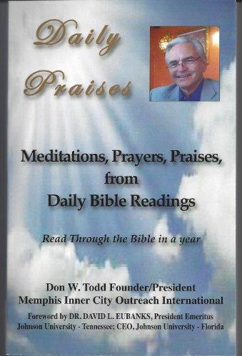 Don Todd Daily Praises: Don Todd