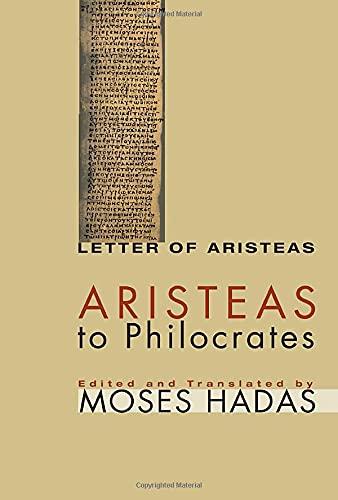 9781556355066: Aristeas to Philocrates: (Letter of Aristeas)