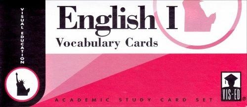 English I Vocabulary Cards (Set 1): Education, Visual