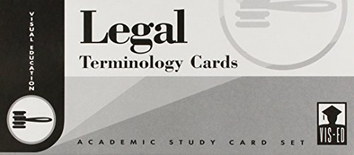 9781556370304: Legal Terminology Cards