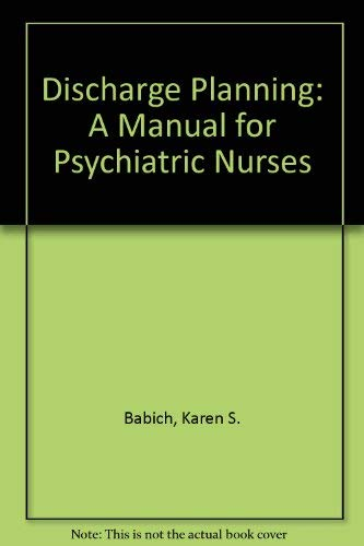 9781556422010: Discharge Planning: A Manual for Psychiatric Nurses