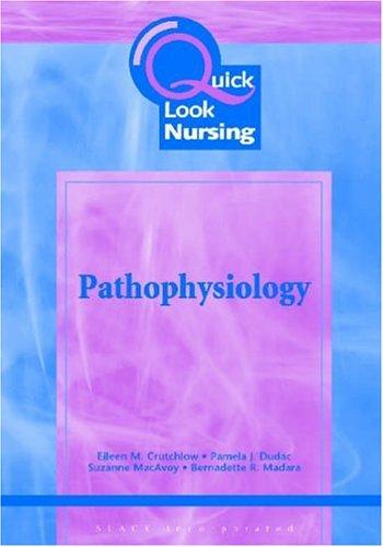 9781556425653: Quick Look Nursing: Pathophysiology
