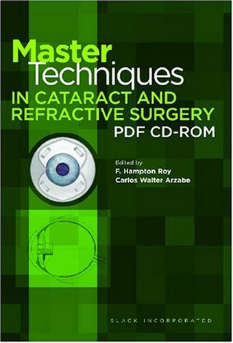 9781556427121: Master Techniques in Cataract and Refractive Surgery PDF CD-ROM