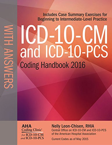 9781556484117: ICD-10-CM and ICD-10-PCS Coding Handbook, with Answers, 2016 Rev. Ed.