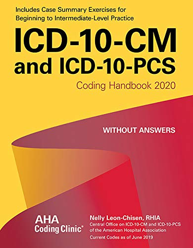 9781556484476: ICD-10-CM and ICD-10-PCS Coding Handbook, without Answers, 2020 Rev. Ed.