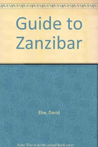 Guide to Zanzibar (1556506228) by Else, David