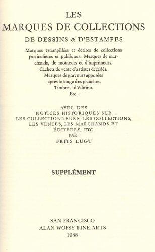 Marques de collections de dessins et d'estampes.: Frits Lugt
