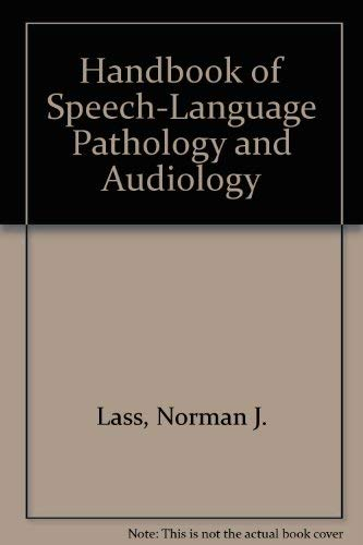 9781556640377: Handbook of Speech-Language Pathology and Audiology