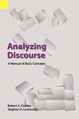 9781556711152: Analyzing Discourse: A Manual of Basic Concepts