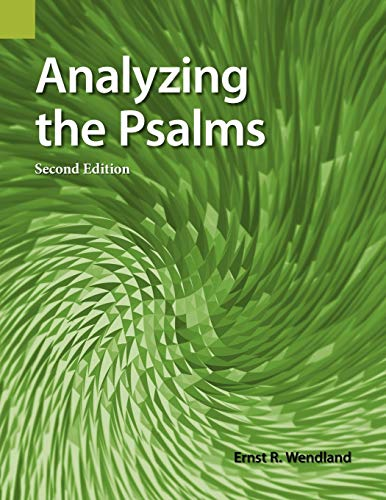 9781556711299: Analyzing the Psalms: With Exercises for Bible Students and Translators