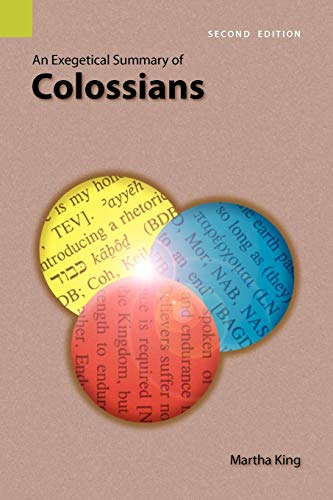 9781556712036: An Exegetical Summary of Colossians, Second edition