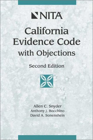9781556816642: California Evidence Code With Objections