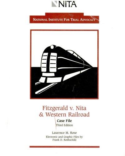 9781556817953: Fitzgerald v. Nita & Western Railroad Case File