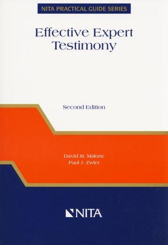 9781556819599: Effective Expert Testimony (NITA Practical Guide Series)