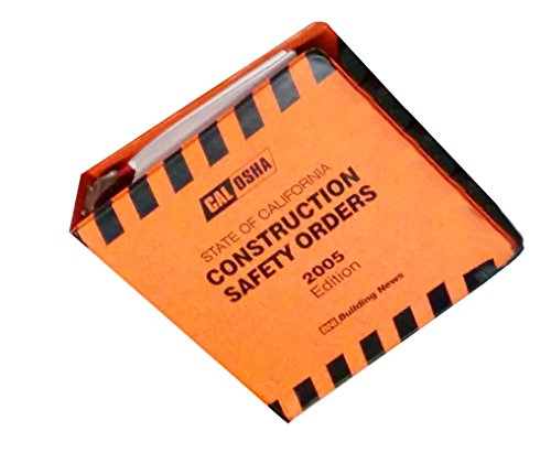 9781557014979: Cal Osha 2005 State Of California Construction Safety Orders