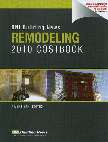 Bni Building News Remodeling 2010 Costbook (Building: Bni Building News