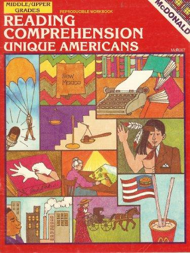 9781557082190: Reading Comprehension - Unique Americans