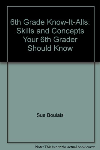 9781557086242: 6th Grade Know-It-Alls: Skills and Concepts Your 6th Grader Should Know