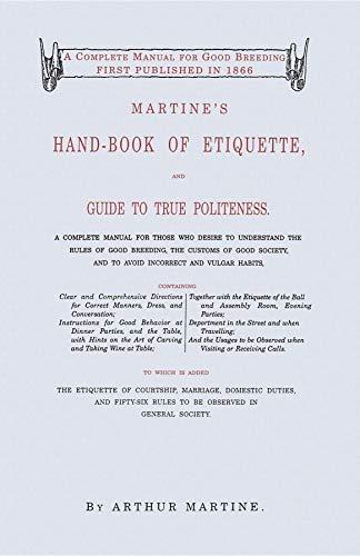 9781557094292: Martine's Hand-Book of Etiquette
