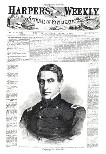 Harper's Weekly January 12, 1861 (Miscellaneous Print): Harper's Weekly Staff