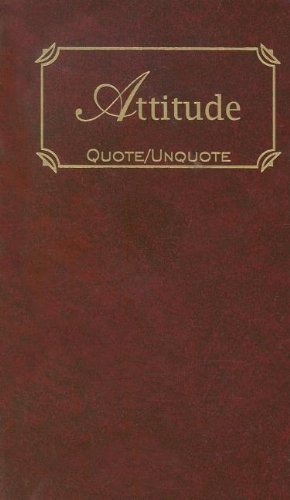 9781557099792: Attitude: Quotes of Inspiration (Quote Unquote)