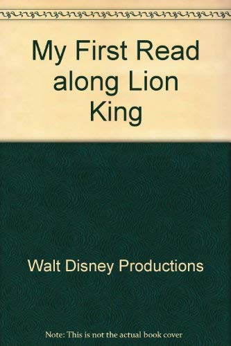 My First Read along Lion King: Walt Disney Productions