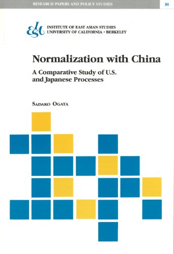 9781557290137: Normalization With China: A Comparative Study of U.S. and Japanese Processes (Research Papers & Policy Studies)