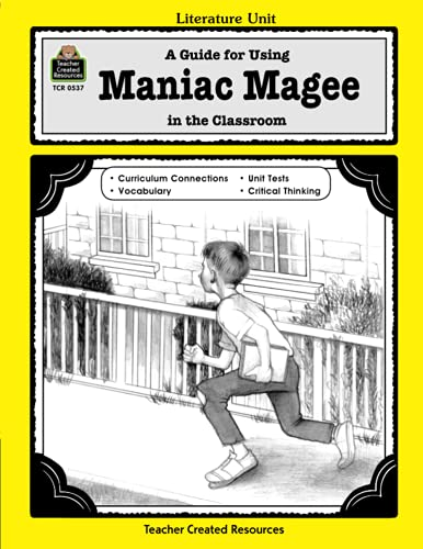 9781557345370: A Guide for Using Maniac Magee in the Classroom (Literature Units)