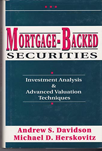 9781557384409: Mortgage-Backed Securities: Investment Analysis & Advanced Valuation Techniques