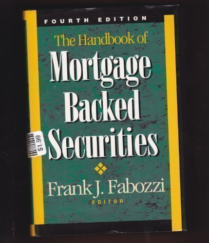 9781557385765: The Handbook of Mortgage Backed Securities