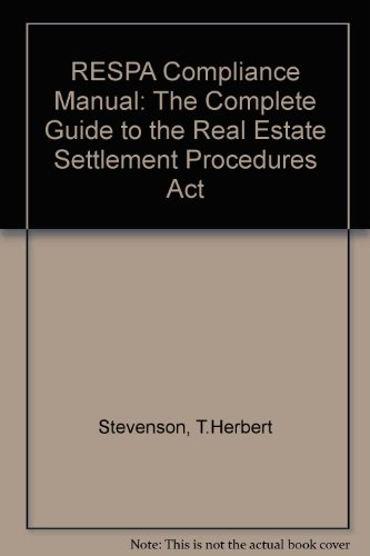 9781557387691: Respa Compliance Manual: The Complete Guide to the Real Estate Settlement Procedures Act