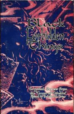BLACK FORBIDDEN THINGS: Robert Price