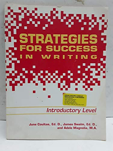 9781557434067: Strategies for Sucess in Writing (Introductory Level)