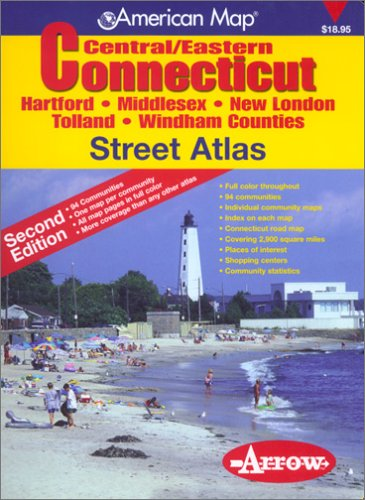 9781557511447: Central/Eastern Connecticut Street Atlas