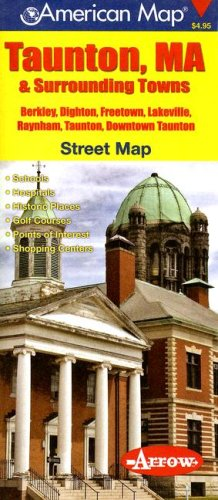 Taunton & Surrounding Towns, MA Pocket Map: American Map Company