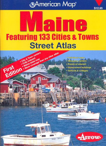 9781557515155: Langenscheidt Maine Street Atlas: 133 Cities & Towns