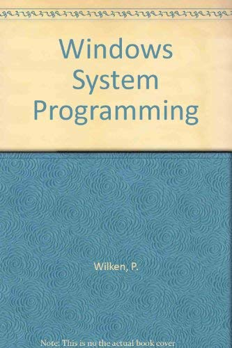 9781557551160: Windows System Programming
