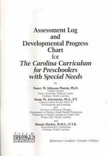 9781557660398: Assessment Log and Developmental Progress Chart for the Carolina Curriculum for Preschoolers With Special Needss