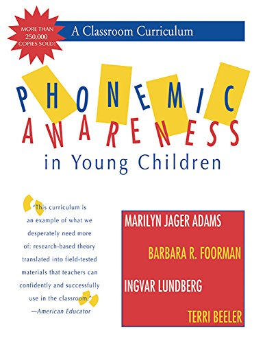 9781557663214: Phonemic Awareness in Young Children: A Classroom Curriculum