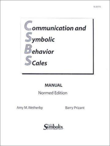 9781557665393: CSBS Manual: Communication and Symbolic Behavior Scales