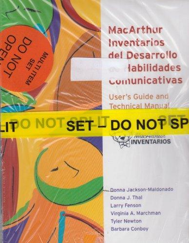 9781557666208: MacArthur Inventarios Del Desarrollo de Habilidades Comunicativas (Inventarios)