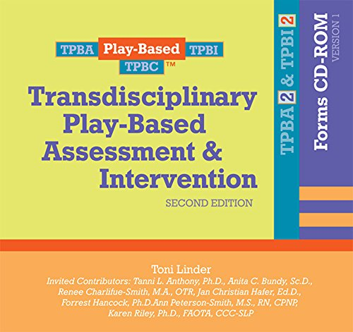 9781557669391: Transdisciplinary Play-Based Assessment & Intervention (TPBA/I2) Forms CD-ROM