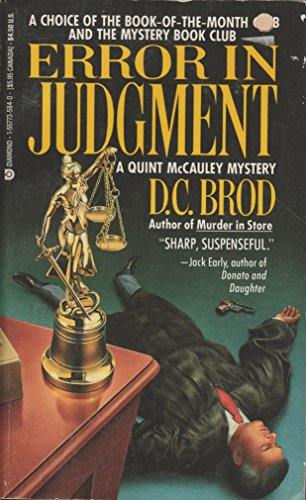 Error in Judgment (A Quint McCauley Mystery): Brod, D. C.