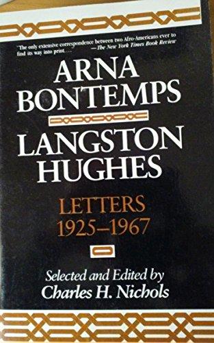 9781557783912: Arna Bontemps-Langston Hughes Letters, 1925-1967