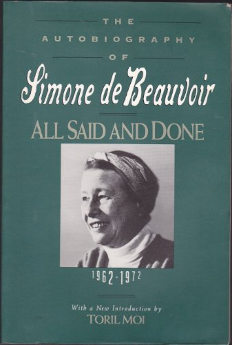 9781557785251: All Said and Done: The Autobiography of Simone de Beauvoir