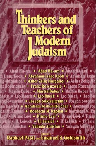 9781557787019: Thinkers and Teachers of Modern Judaism