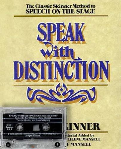 9781557830524: Speak with Distinction: Booklet and Cassette (Applause Acting Series)