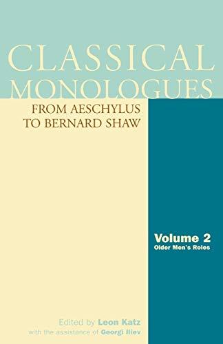 Classical Monologues: Volume 2, Older Men: Leon Katz